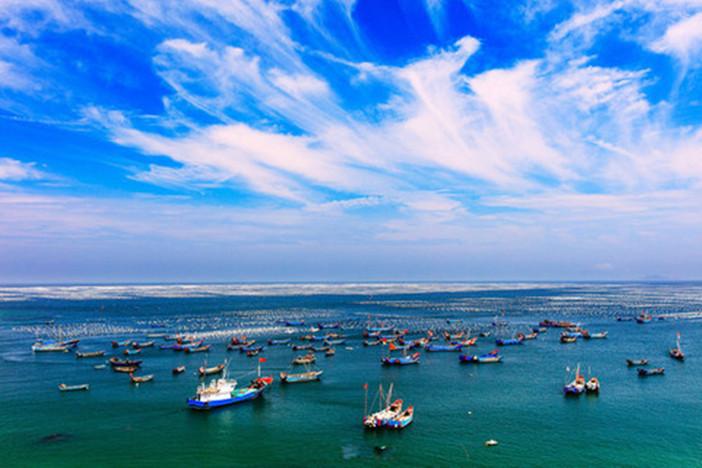 东南亚风景水果 船