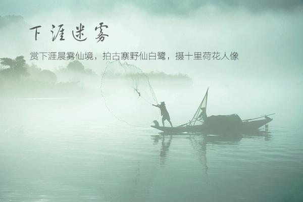 【领袖户外】下涯迷雾摄影—赏下涯晨雾仙境,拍古寨野仙白鹭,摄十里荷花人像